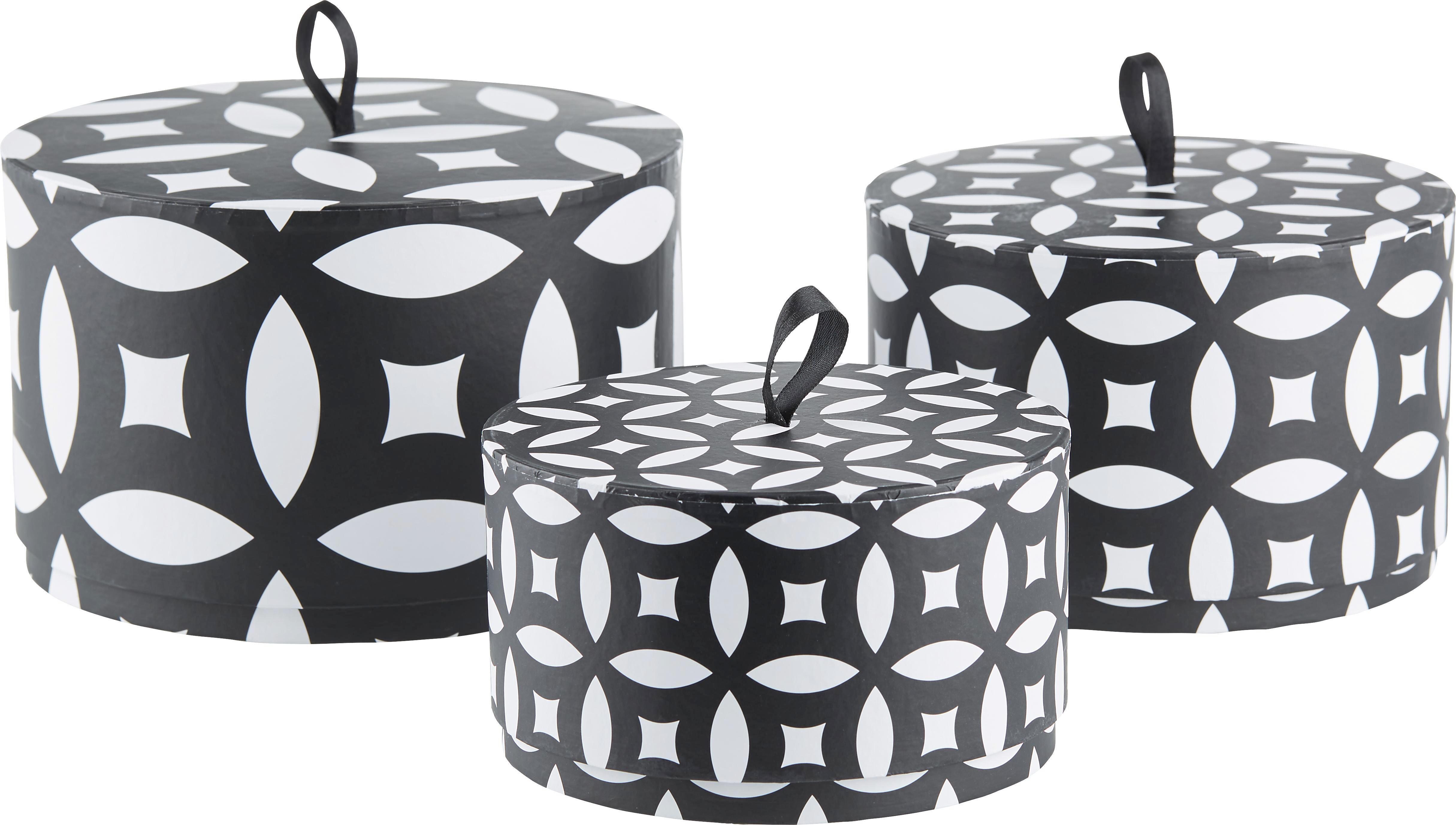 Ajándékdoboz Ethno - M - fekete/fehér, Lifestyle, karton (16,5/10cm) - MÖMAX modern living