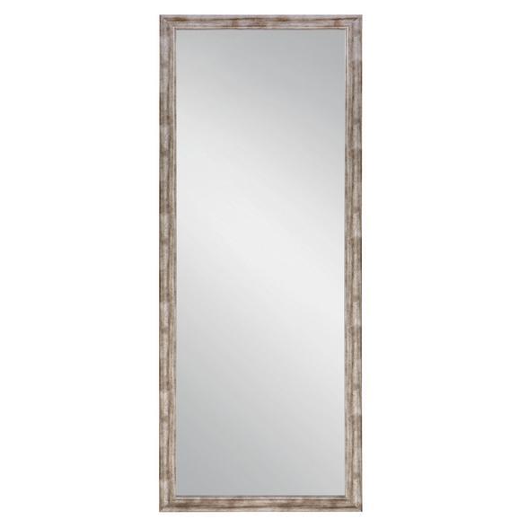 Stensko Ogledalo Metallic - srebrna/nikelj, leseni material (66/186cm)