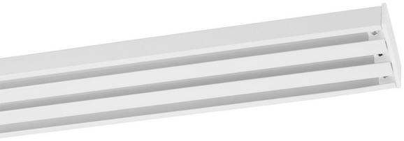Vorhangschiene Style in Weiß, ca. 160cm - Weiß, Metall (160cm) - Premium Living