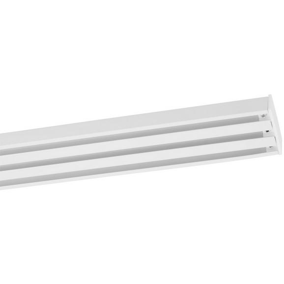 Vorhangschiene Style in Weiß ca. 160cm - Weiß, Metall (160cm) - Premium Living