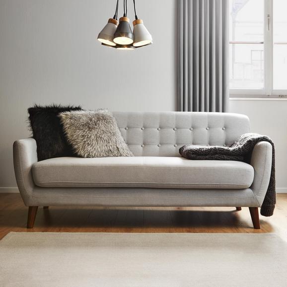 Sofa Xavier Dreisitzer mit Taschenfederkern - Hellgrau, MODERN, Holz/Textil (176/81/76cm) - Modern Living