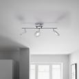 LED-Deckenleuchte max. 12 Watt 'Sphere' - Chromfarben, MODERN, Glas/Metall (54/15/19cm) - Bessagi Home
