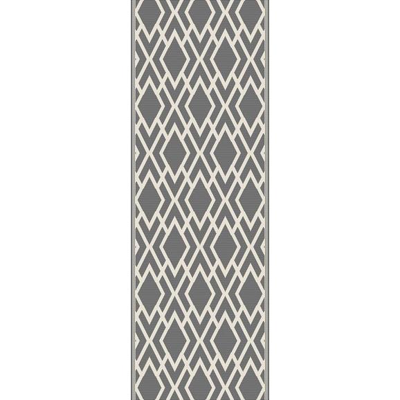Covor Cu Țesătură Plată Edgar 1 - argintiu/crem, Modern, textil (80/200cm) - Modern Living