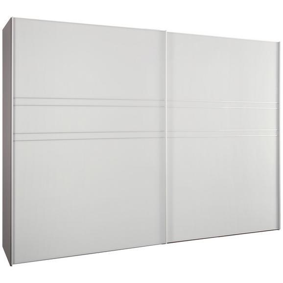 Schwebetürenschrank in Seidengrauglas - Hellgrau/Alufarben, KONVENTIONELL, Glas/Holzwerkstoff (252/222/68cm) - Premium Living