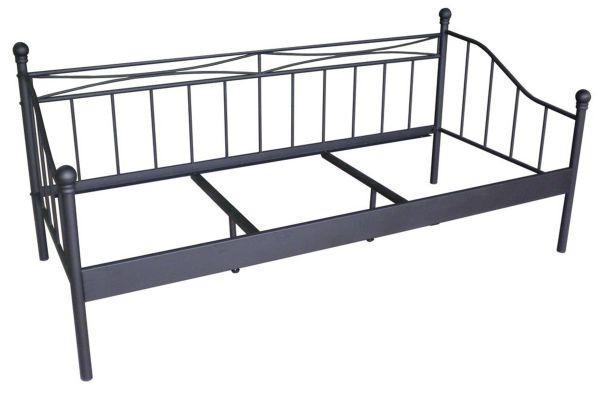 Tagesbett in Schwarz, ca. 90x200cm - Schwarz, ROMANTIK / LANDHAUS, Metall (207/92/98cm) - MÖMAX modern living
