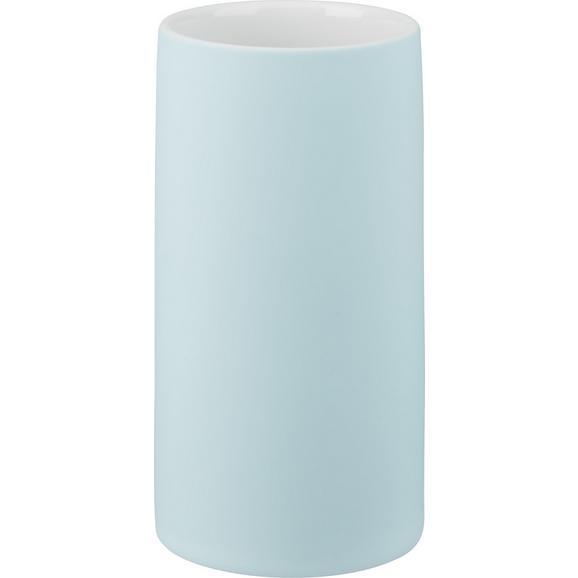 Zahnputzbecher Melanie Blau - Blau, Keramik (6,5/12cm) - Mömax modern living