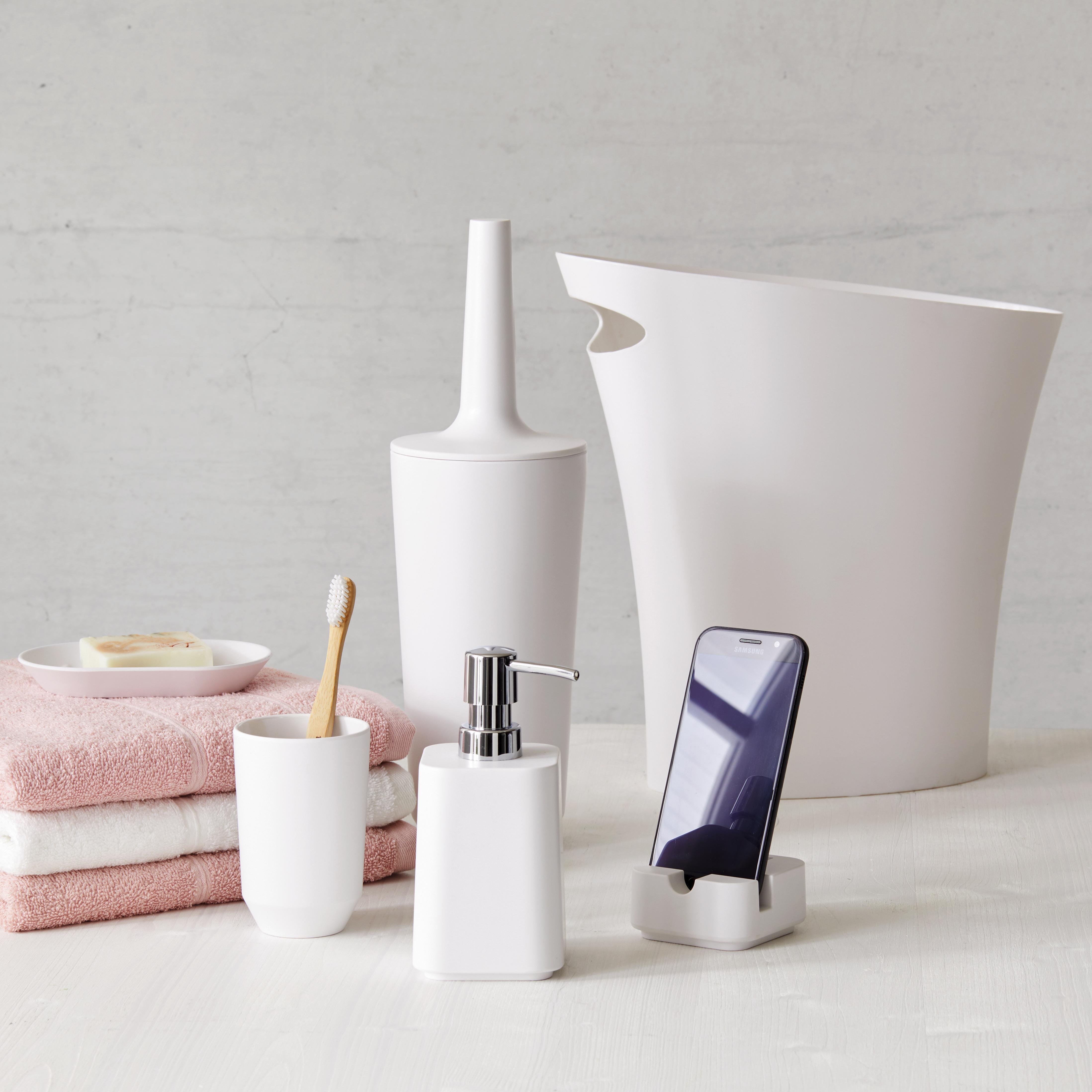 WC Bürste weiß Bürstengarnitur Garnitur Klobürste Weiß Beige Braun Keramik