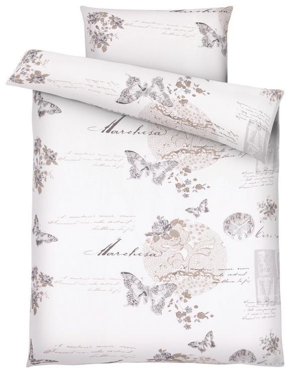 Bettwäsche Fleur, ca. 140x200cm - Beige/Schwarz, ROMANTIK / LANDHAUS, Textil (//null) - Mömax modern living