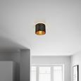 Mennyezeti Lámpa Samti - Arany/Fekete, Lifestyle, Fém/Textil (20/17cm) - Modern Living