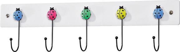 Stenski Obešalnik Goffredo-ladybug - bela/krom, Moderno, kovina (45/10/4,5cm)