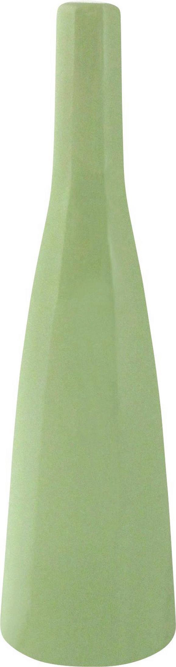 Vaza Plancio - zelena, Romantika, keramika (20,5cm)
