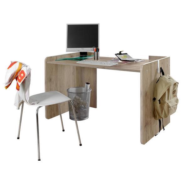 schreibtisch eichefarben holz online kaufen m max. Black Bedroom Furniture Sets. Home Design Ideas