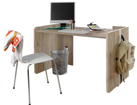 Schreibtisch Young in Eiche - Eichefarben, Holz/Holzwerkstoff (125/77/70cm) - MODERN LIVING