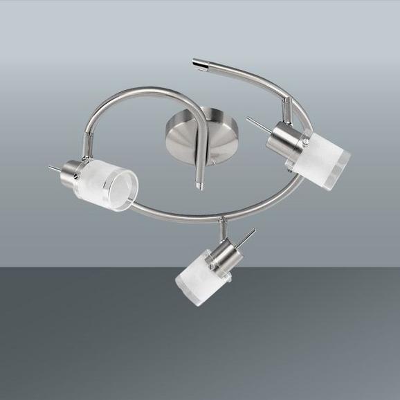 Strahler Max, max. 3,8 Watt - Weiß/Nickelfarben, KONVENTIONELL, Glas/Metall (30cm) - Mömax modern living