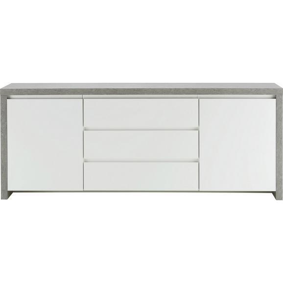 Sideboard In Weiss Hochglanz Betonoptik Online Kaufen Momax