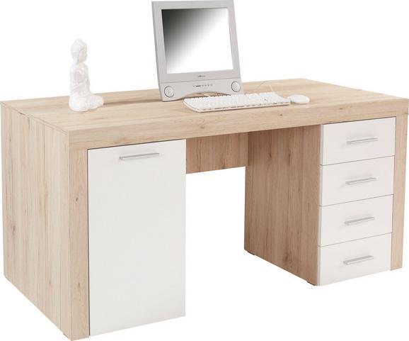 Íróasztal Cubus - Tölgyfa, modern, Faalapú anyag (160/75/70cm)
