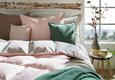 Posteljnina Belinda - roza/svetlo siva, tekstil (140/200cm) - Premium Living