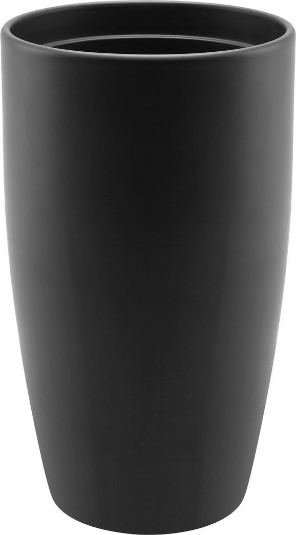 Blumentopf Mila aus Keramik - Taupe/Anthrazit, KONVENTIONELL, Keramik (16.5/16.5/29cm) - MÖMAX modern living