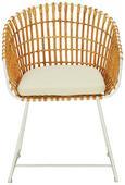 Stuhl Natur/Weiß - Creme/Naturfarben, MODERN, Holz/Metall (56/80/44/56cm) - Modern Living