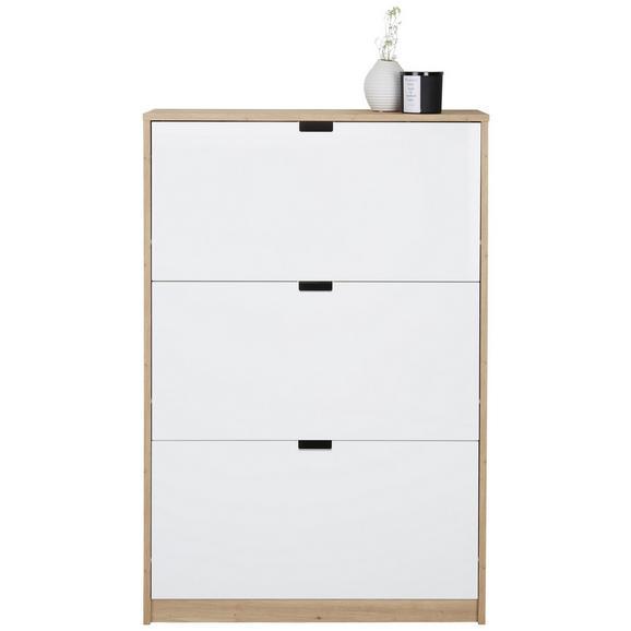 Schuhkipper in Weiß - Eichefarben/Weiß, MODERN, Holzwerkstoff/Kunststoff (79/124/25cm) - Modern Living