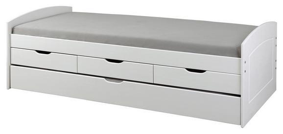 Kinder-/Juniorbett Massivholz Weiß 90x200cm - Weiß, MODERN, Holz (205/63/98cm) - Zandiara