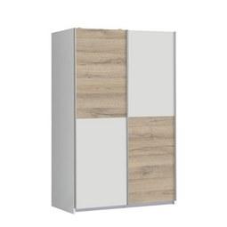 Omara Z Drsnimi Vrati Ohio - siva/bela, Moderno, kovina/umetna masa (120/190,5/62cm) - Based