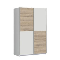 Schwebetürenschrank in Eichefarben - Eichefarben/Weiß, MODERN, Holz/Holzwerkstoff (120/190,5/62cm) - Modern Living