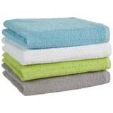 Handtuch Carlos verschiedenen Farben - Weiß/Grau, Textil (40/80cm) - Based