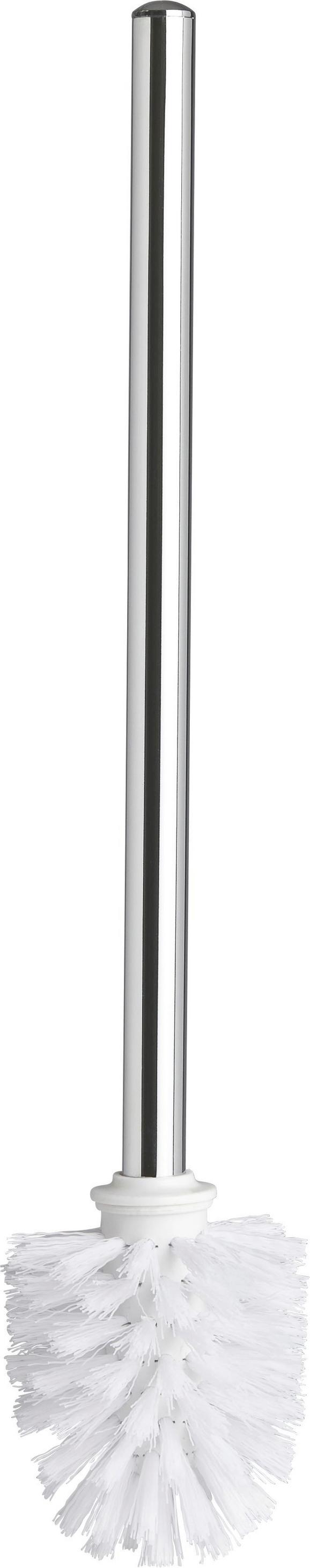 WC-Bürste Vision Chromfarben - Kunststoff/Metall (8/37,5cm) - Mömax modern living