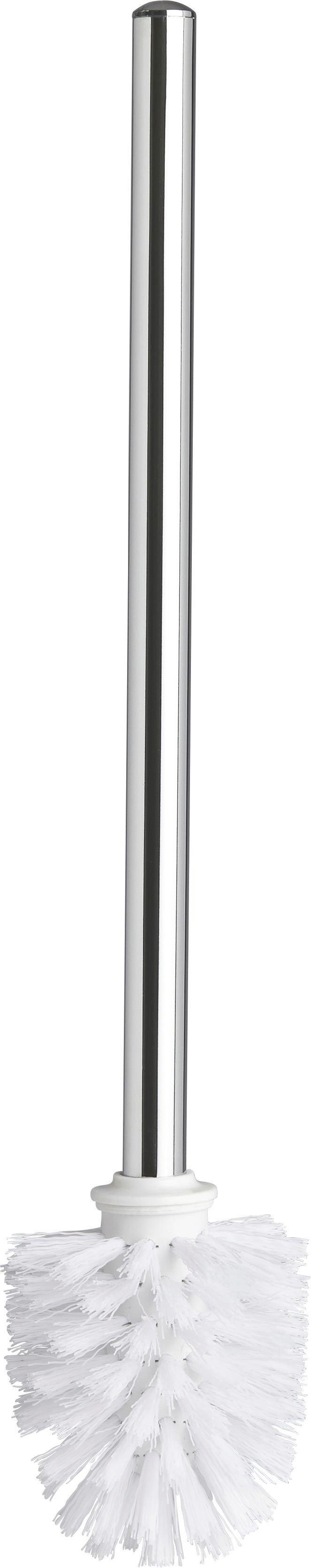 WC-Bürste Vision in Chrom/Weiß - Kunststoff/Metall (8/37,5cm) - MÖMAX modern living