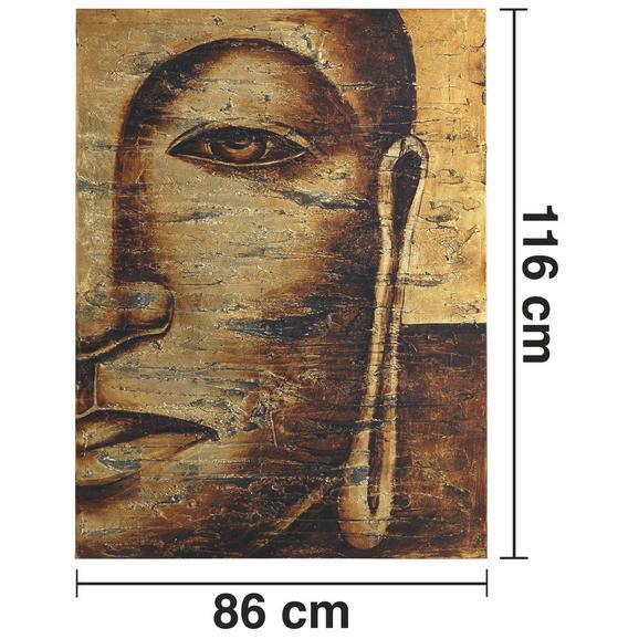BILD TIBET I ca.86X116CM - Goldfarben, Holz/Textil (86/116cm) - Bessagi Home