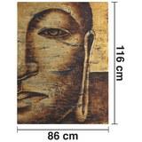 Bild Tibet I Goldfarben ca.86X116cm - Goldfarben, Holz/Textil (86/116cm) - Bessagi Home