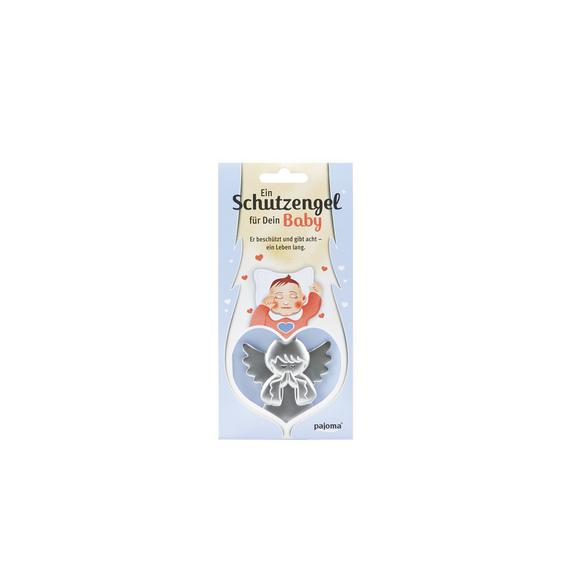 Schlüsselanhänger Gabriele, Für Dein Baby - Silberfarben, Metall (10cm) - Mömax modern living