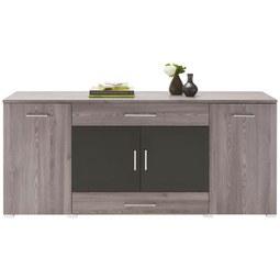 Sideboard in Lärchefarben - Chromfarben/Silberfarben, MODERN, Holzwerkstoff/Kunststoff (180/81/45cm) - Premium Living