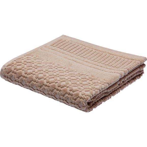 Handtuch Carina Braun - Braun, ROMANTIK / LANDHAUS, Textil (50/100cm) - Mömax modern living