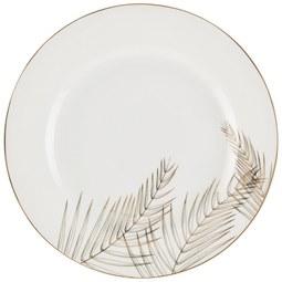 Plitvi Krožnik Oro - zlata/bela, Trendi, keramika (26,70cm) - Mömax modern living