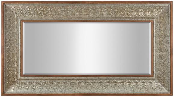 Wandspiegel in Silberfarben, ca. 100x180 - Silberfarben, LIFESTYLE, Glas/Holz (99,5/180/7,9cm) - PREMIUM LIVING
