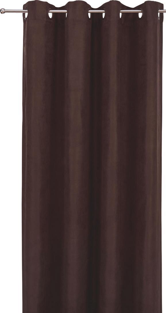 FERTIGVORHANG Velours, ca. 140x245cm - Dunkelbraun, MODERN, Textil (140/245cm) - Mömax modern living