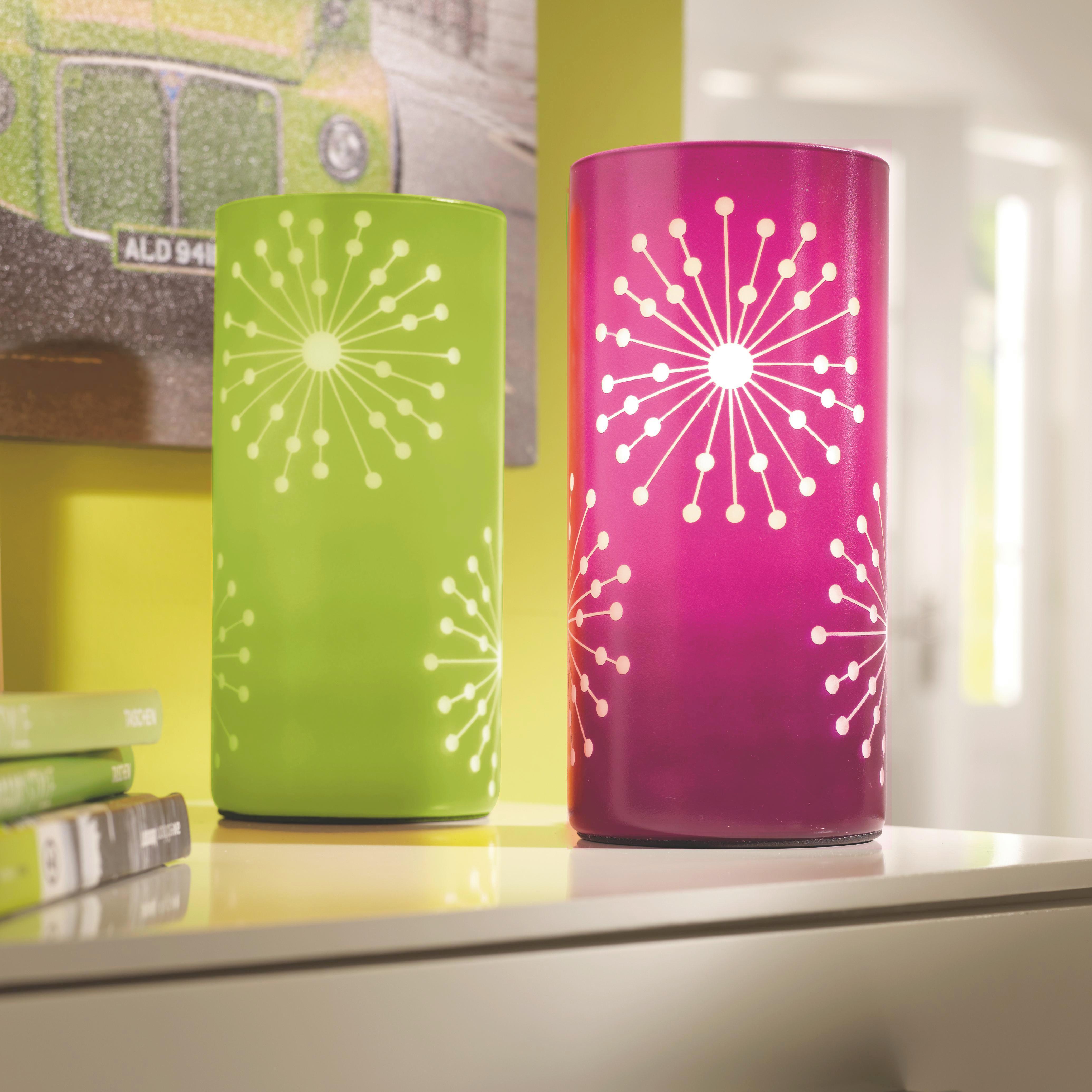 Tischleuchte Pia, max. 60 Watt - Grün, KONVENTIONELL, Glas/Metall (10/20cm) - MÖMAX modern living