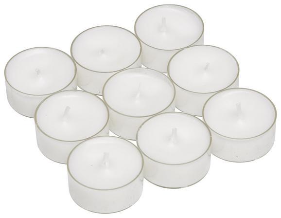 Teelicht Lia Weiß - Klar/Weiß