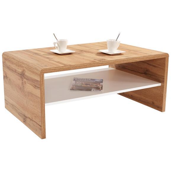 Klubska Mizica Cala Luna - bela/temno rjava, Moderno, leseni material (100/40/59cm) - Mömax modern living