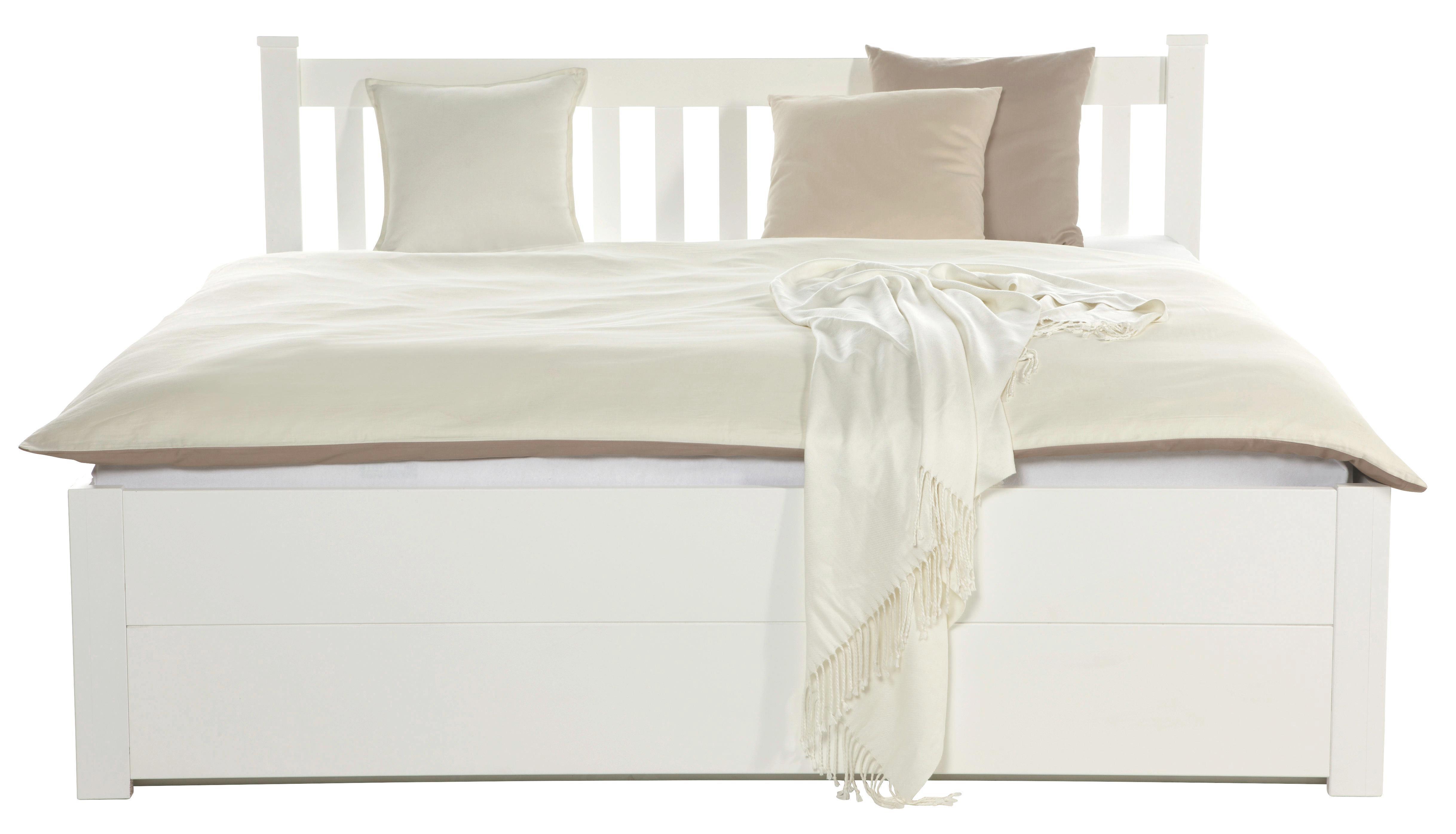 Ágykeret Lyon - fehér, romantikus/Landhaus, fa/faanyagok (211/151/92cm)