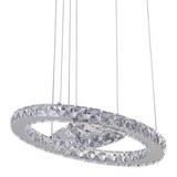 LED-Hängeleuchte Forli, max. 24 Watt - Chromfarben, MODERN, Kunststoff/Metall (40/100-150cm) - Premium Living