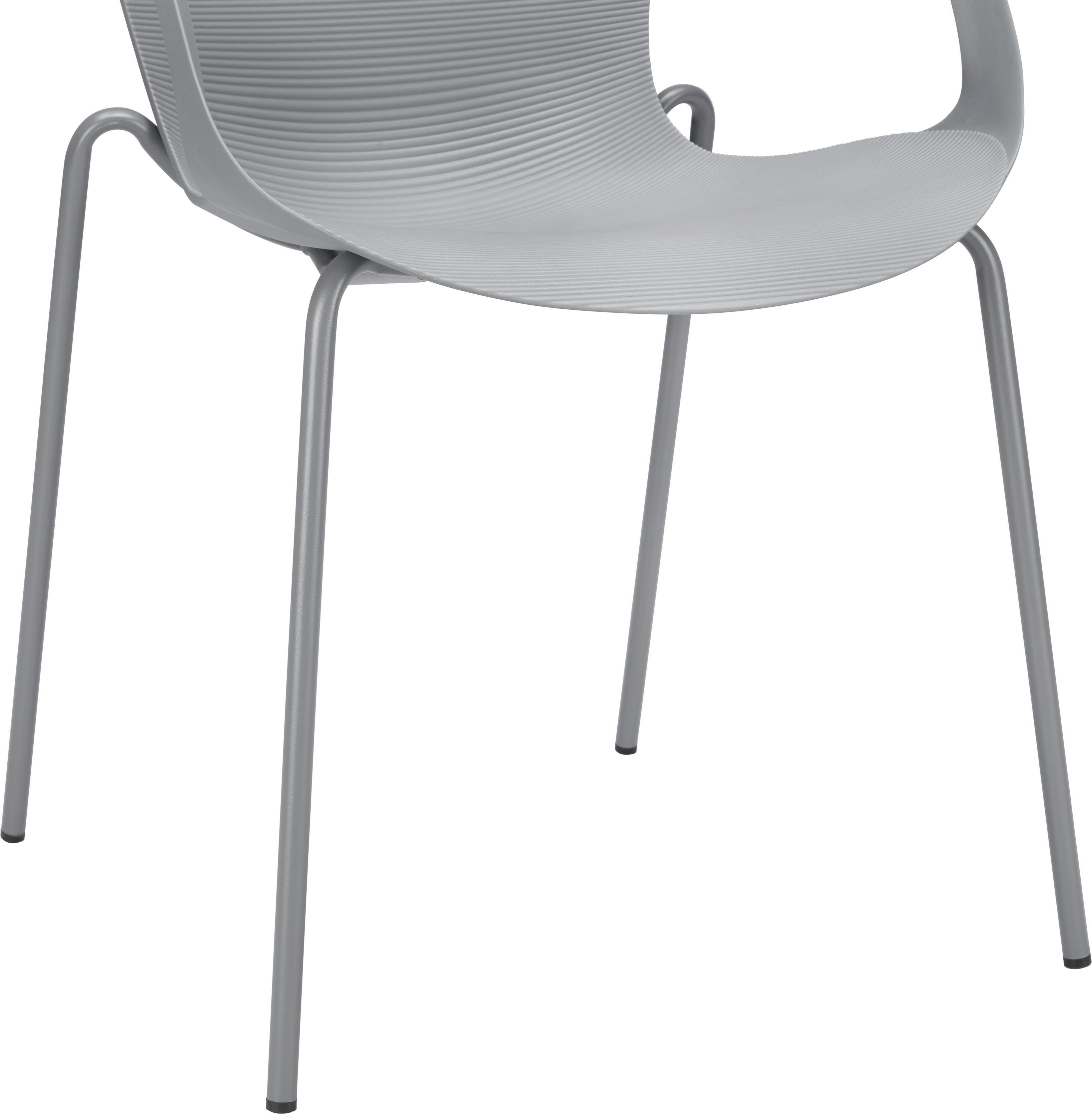 Gartenstuhl Garcia - Grau, MODERN, Kunststoff/Metall (56/75/54cm) - MODERN LIVING