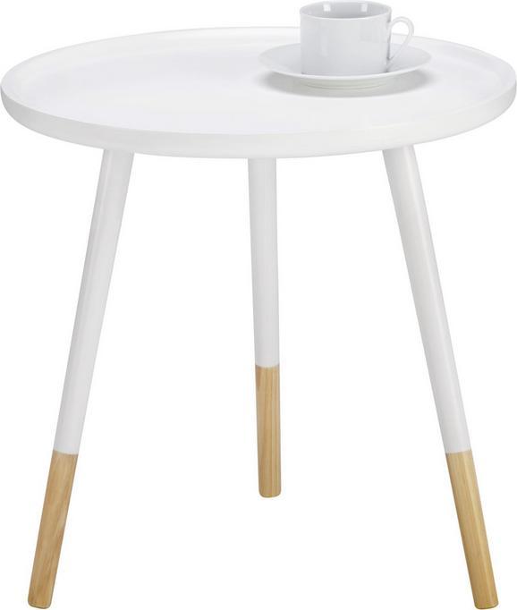 Couchtisch Marlies Øca.48cm - Weiß/Pinienfarben, MODERN, Holz (48/48cm) - Mömax modern living