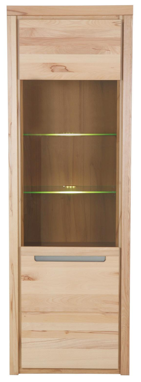 Vitrine aus Kernbuche Massiv - KONVENTIONELL, Holz/Holzwerkstoff (68/203/37cm) - Zandiara