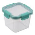 Frischhaltedose Linnea Mint/transparent - Transparent/Mintgrün, MODERN, Kunststoff (10,9/10,9/8,5cm)