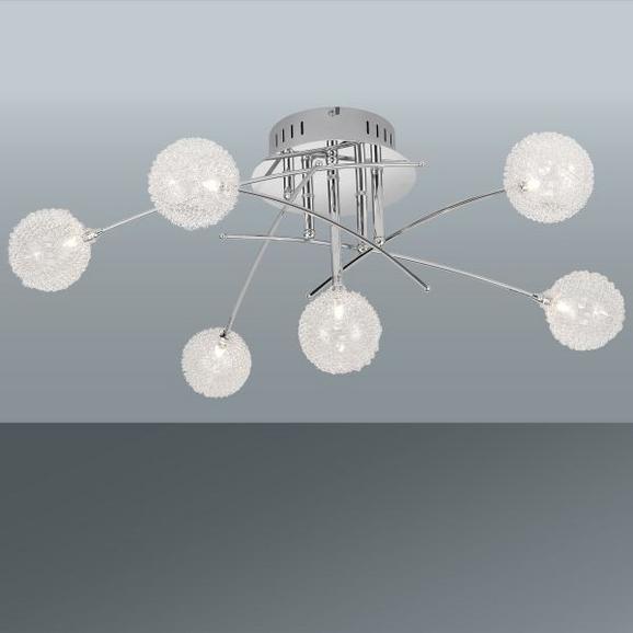 Deckenleuchte Urs, Max 6x14 Watt - Chromfarben, MODERN, Glas/Metall (74/72/29cm) - Mömax modern living