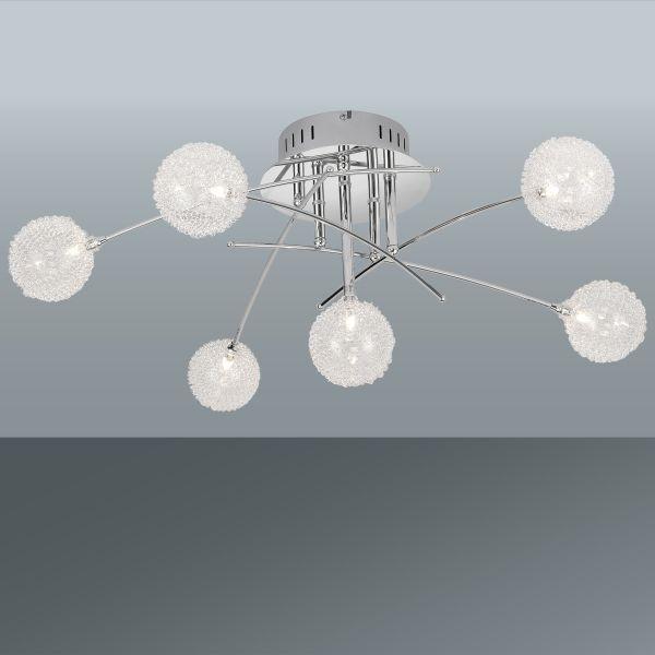 Mennyezeti Lámpa Urs - krómszínű, modern, üveg/fém (74/72/29cm) - MÖMAX modern living