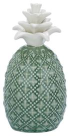 Dekoananas Delia Grün/Weiß - Weiß/Grün, Keramik (6,5/6,5/12cm) - Mömax modern living